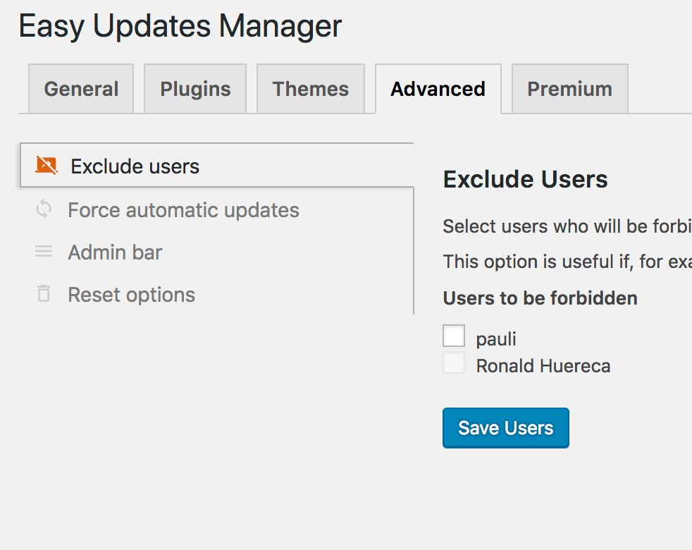 Easy Updates Manager – WordPress plugin | WordPress org