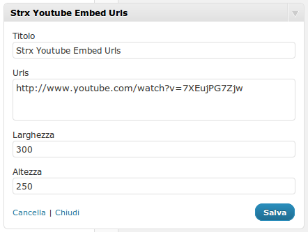 Strx YouTube Embed Urls lets you specify a list of video URLs to show permanently, one for each line
