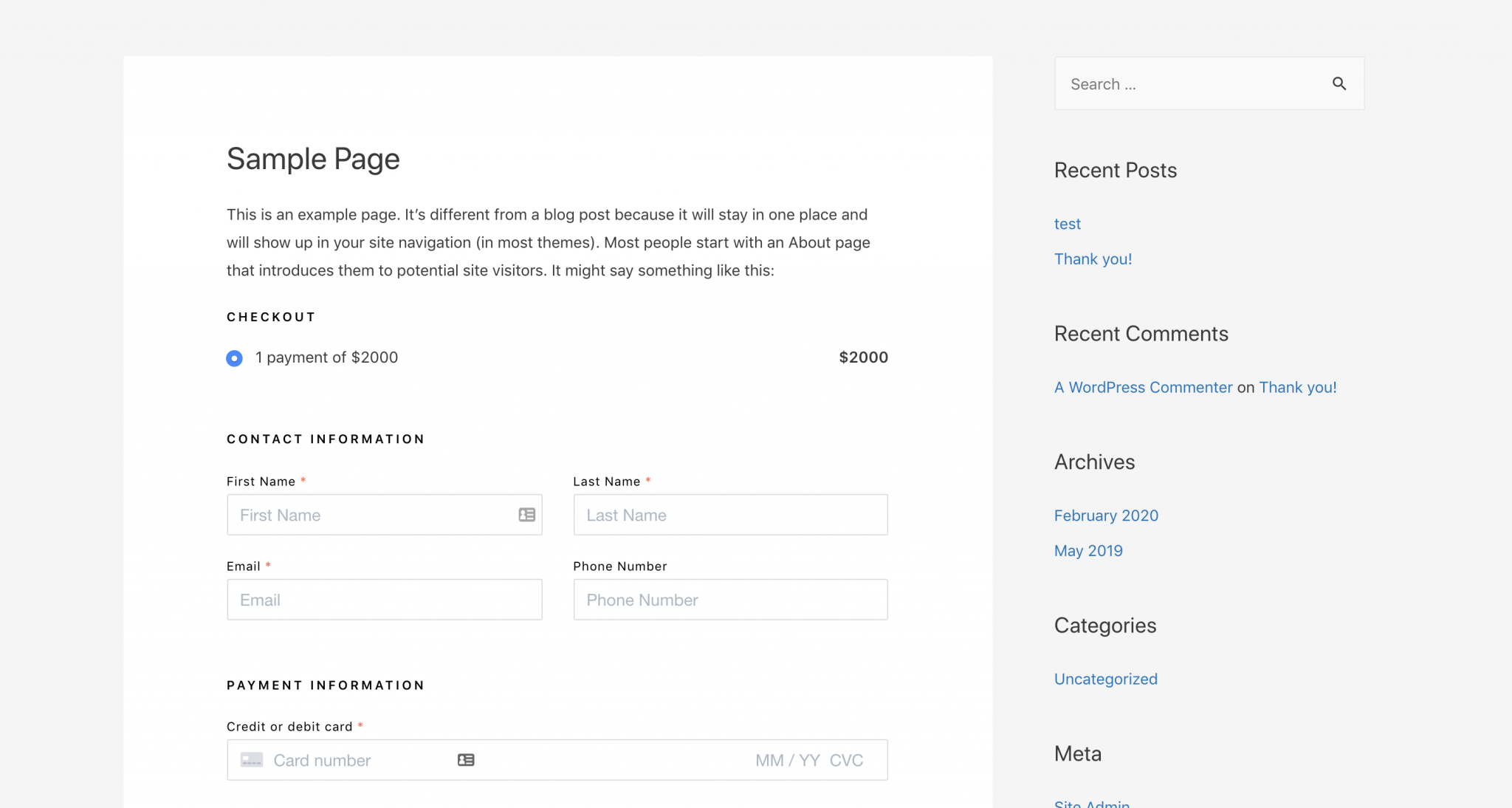 Embed an order form anywhere on your website.