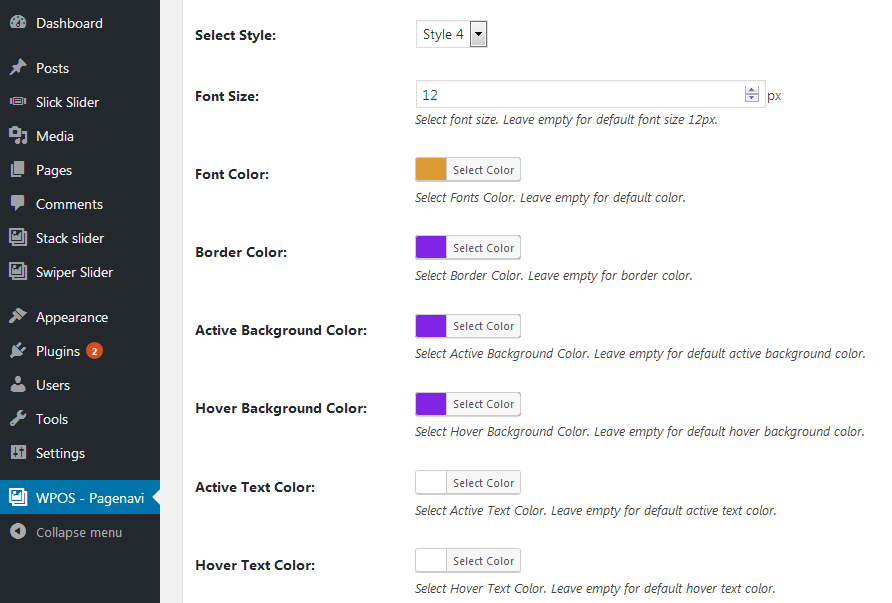 Styles For WP Pagenavi Addon