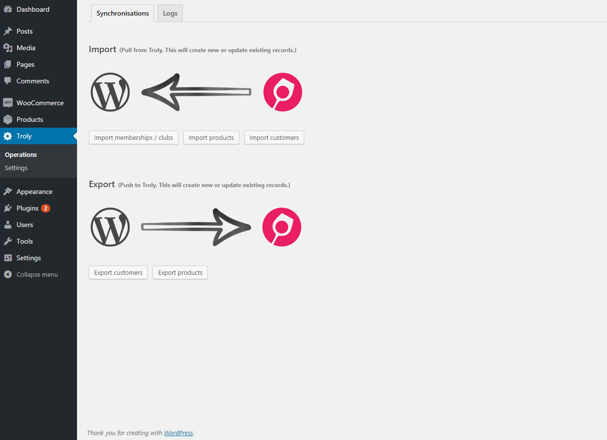Troly for WordPress