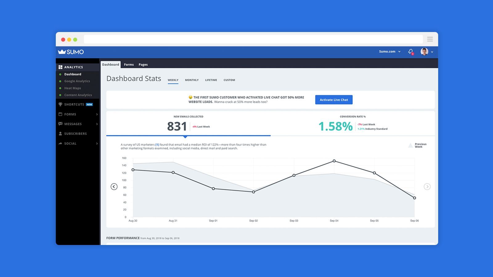 See conversions and get Sumo Insights