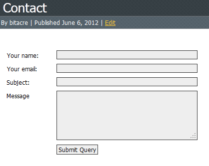 The contact form.