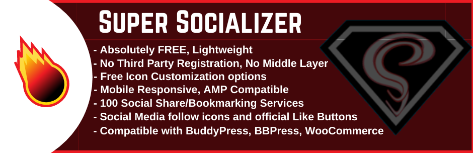 Social Share, Social Login and Social Comments Plugin – Super Socializer