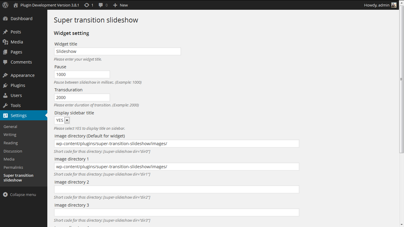 <p>Admin Screen. http://www.gopiplus.com/work/2010/07/18/super-transition-slideshow/</p>