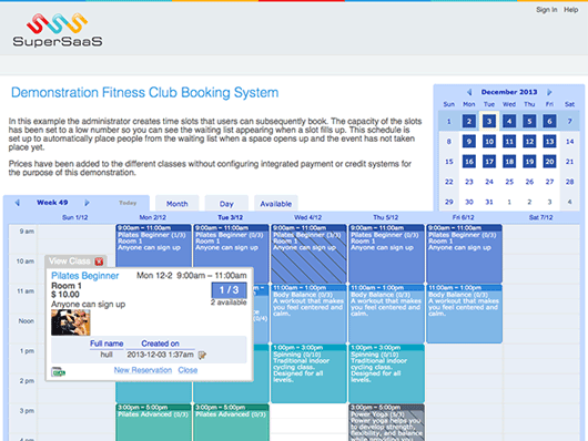 supersaas-appointment-scheduling screenshot 1
