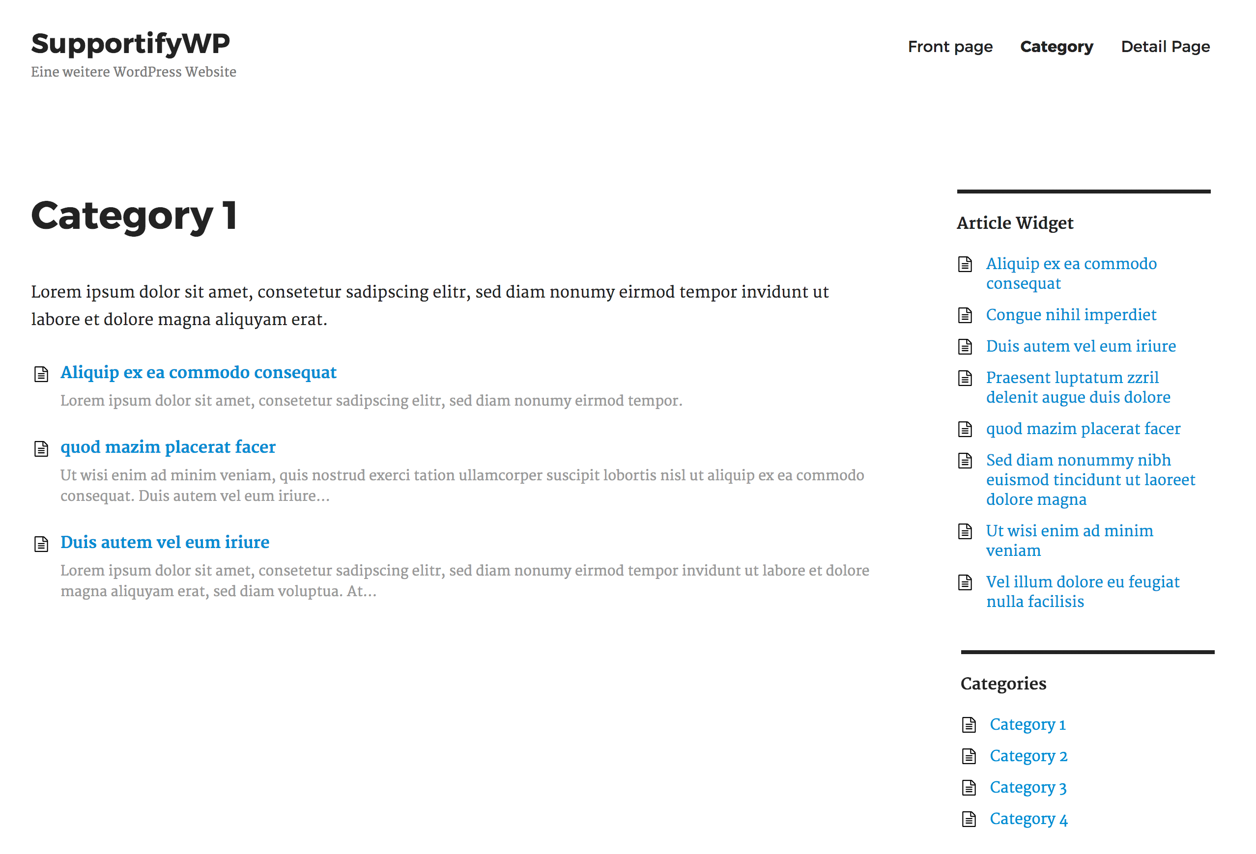 Articles category archive template