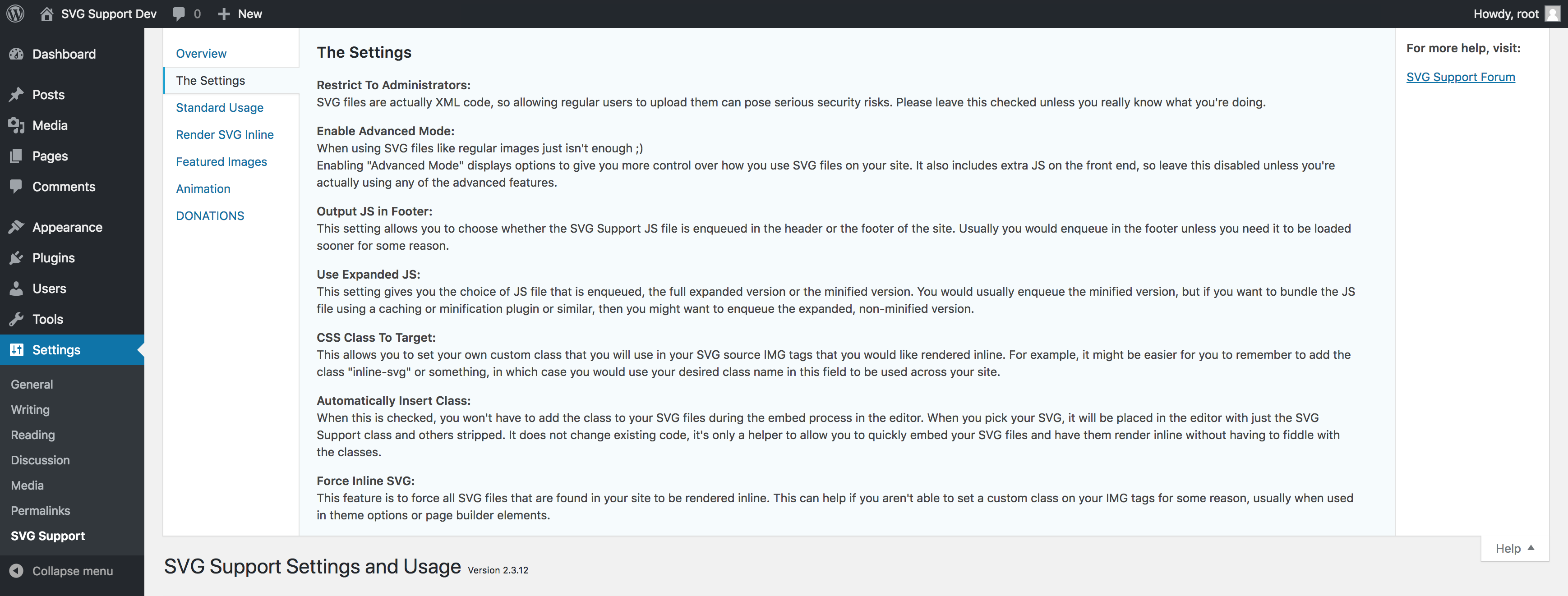 SVG Support – WordPress plugin | WordPress org