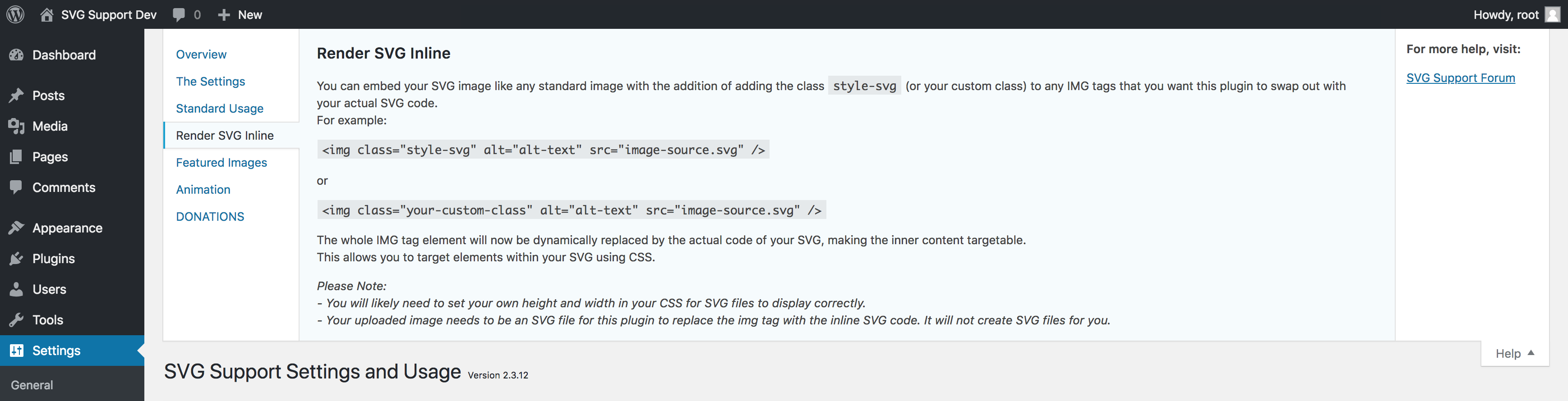 SVG Support – WordPress plugin | WordPress org