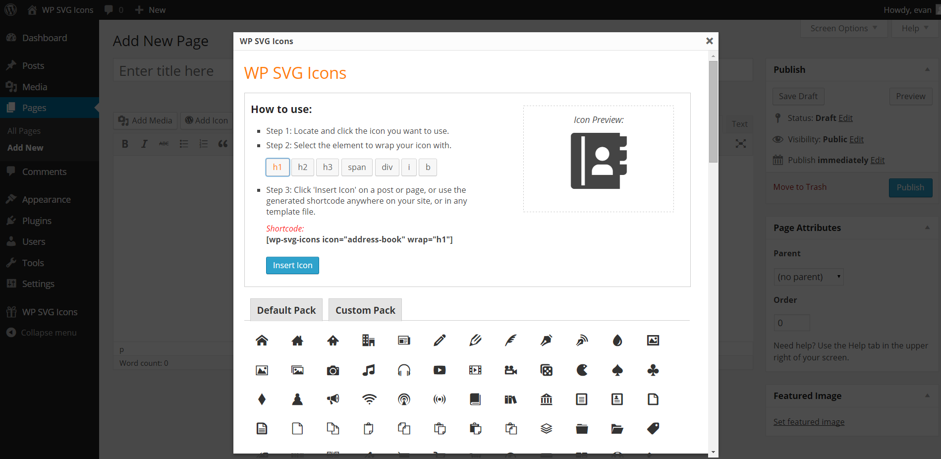 WP SVG Icons – WordPress plugin | WordPress org