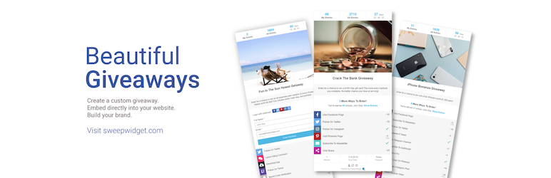 SweepWidget – Viral Giveaways, Sweepstakes, Contests, Leaderboards, & Instant Rewards