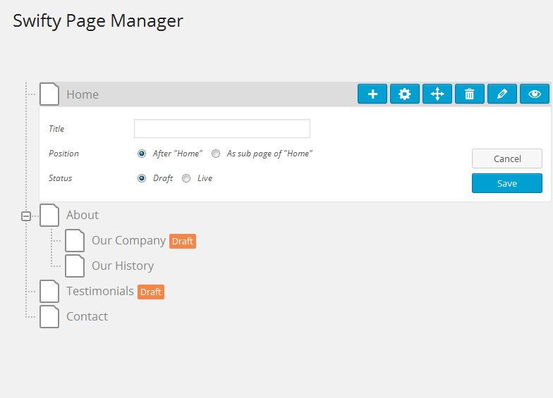 Swifty Page Manager plugin