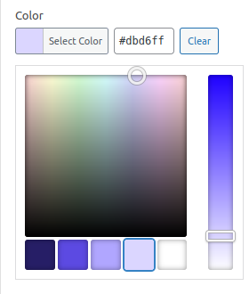 ACF color picker field using editor color palette.
