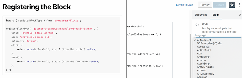 Syntax-highlighting Code Block (with Server-side Rendering)