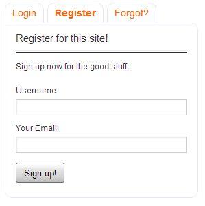 Register Tab