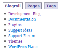 Tabber Tabs Style 2 in a sidebar