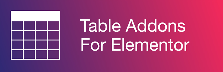 Table Addons For Elementor