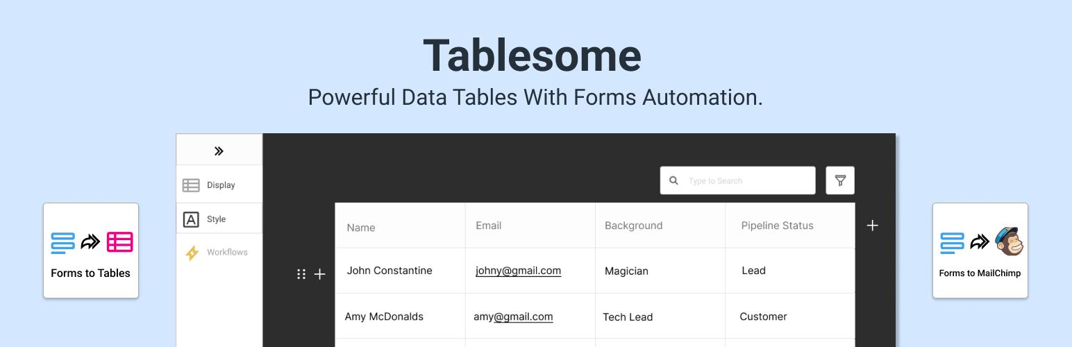 Tablesome – Responsive WordPress Table Plugin