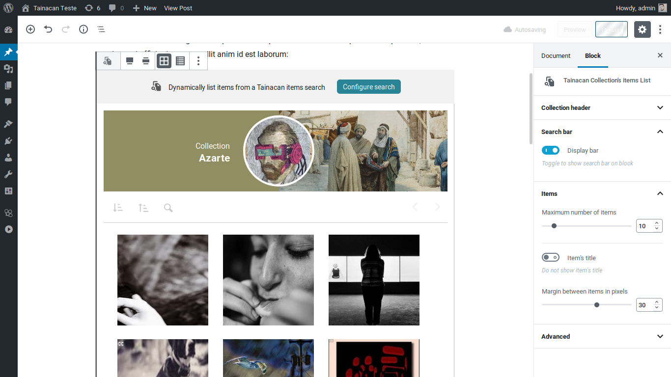 Use Gutenberg blocks to display your collections in posts and pages