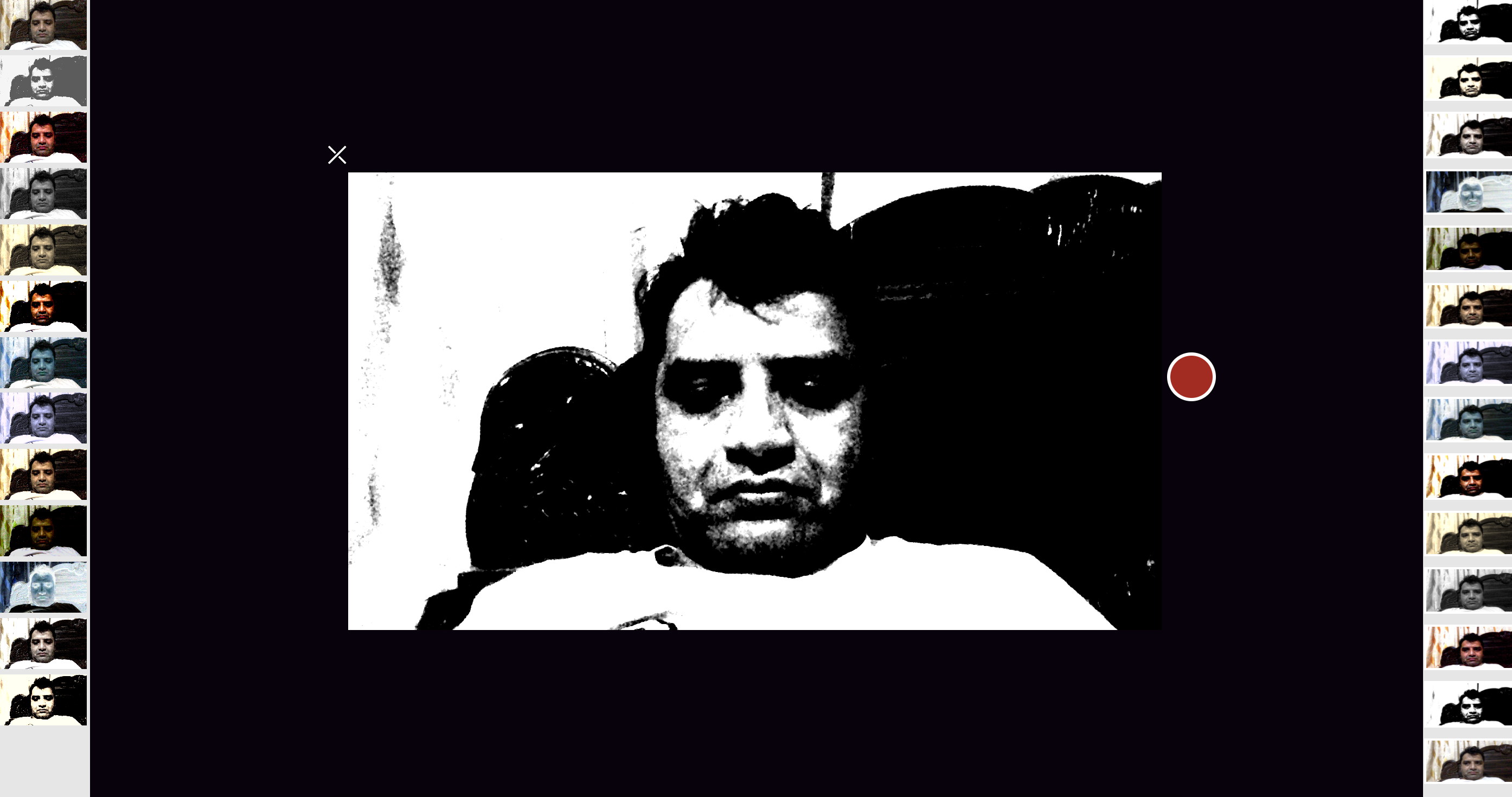 Camera view with effects applied