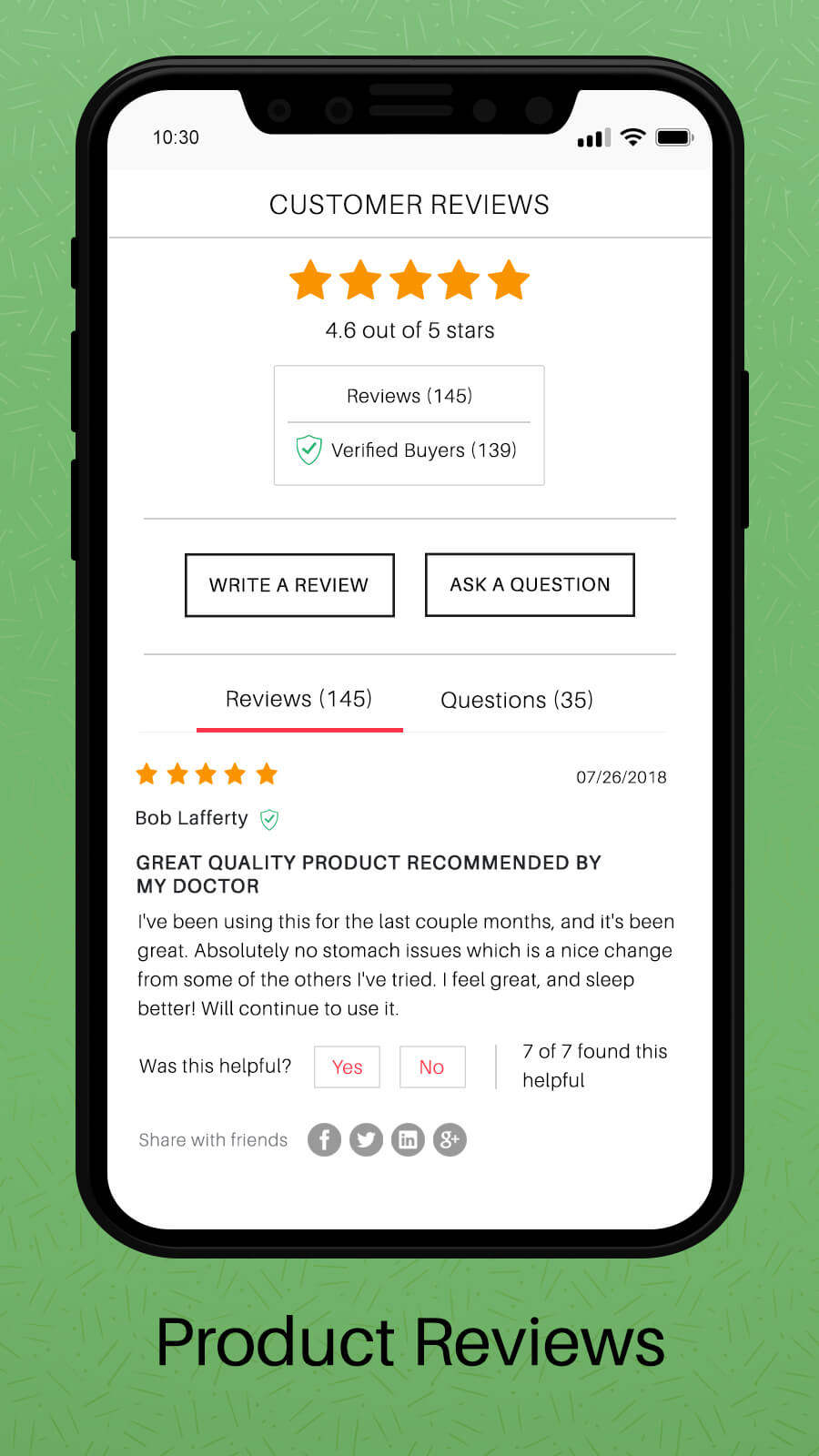 WooCommerce Product Review - Mobile View