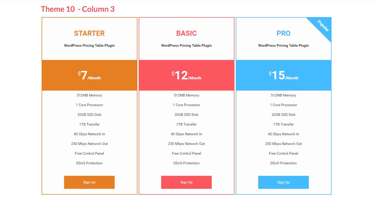 Pricing Table – WordPress plugin | WordPress org