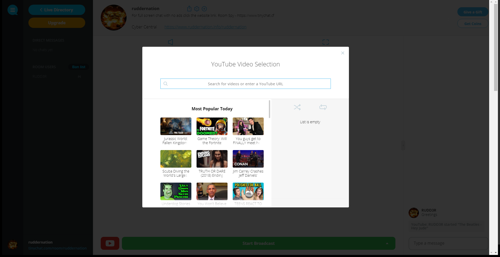 HTML5 Video Chat – Tinychat