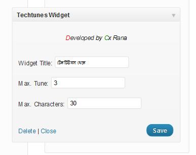Widget Admin Demo