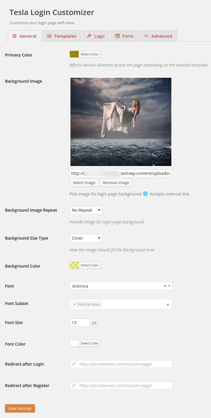 wordpress premium plugins - tesla-login-customizer screenshot 6