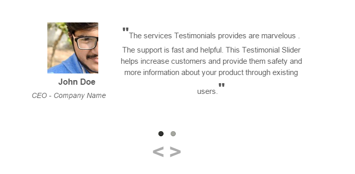 <p>Display your testimonials in a beautiful slider.</p>