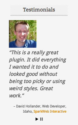 testimonials-widget screenshot 1