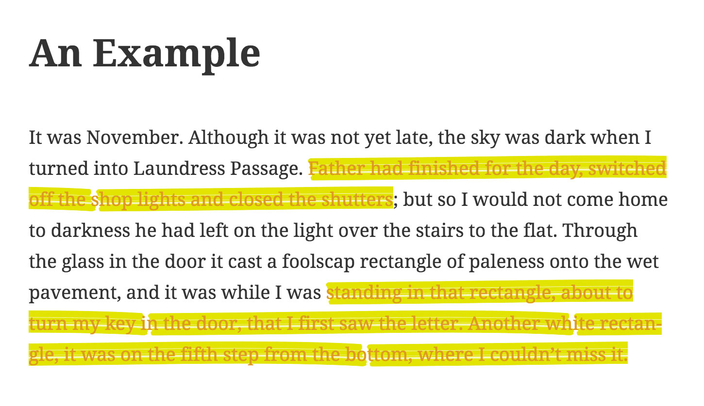 Result: Example of Highlighted Text.