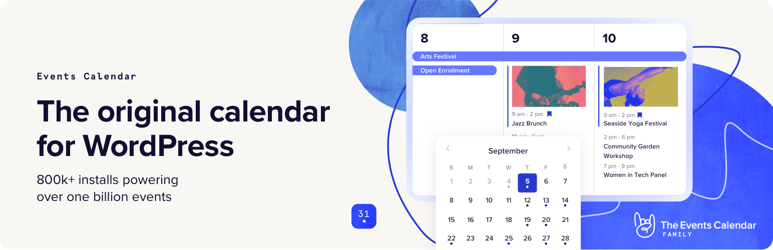The Events Calendar – WordPress plugin | WordPress org