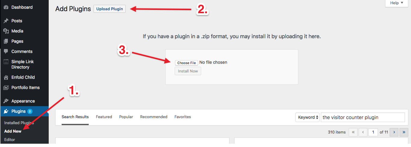 screenshot-3.png - Manual plugin upload. Download the zip file first. Don't forget to activate.
