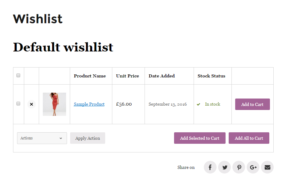 """The look of """"Add to Wishlist"""" button on frontend with different settings"""