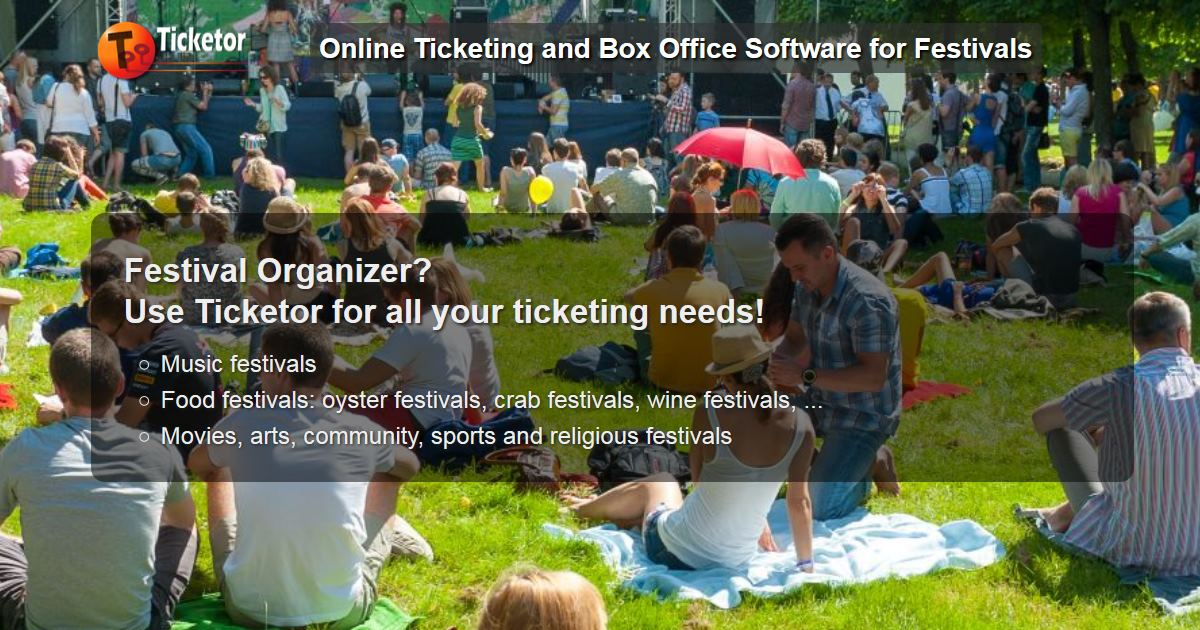 <p>Festival and carnival ticketing and box-office system</p>