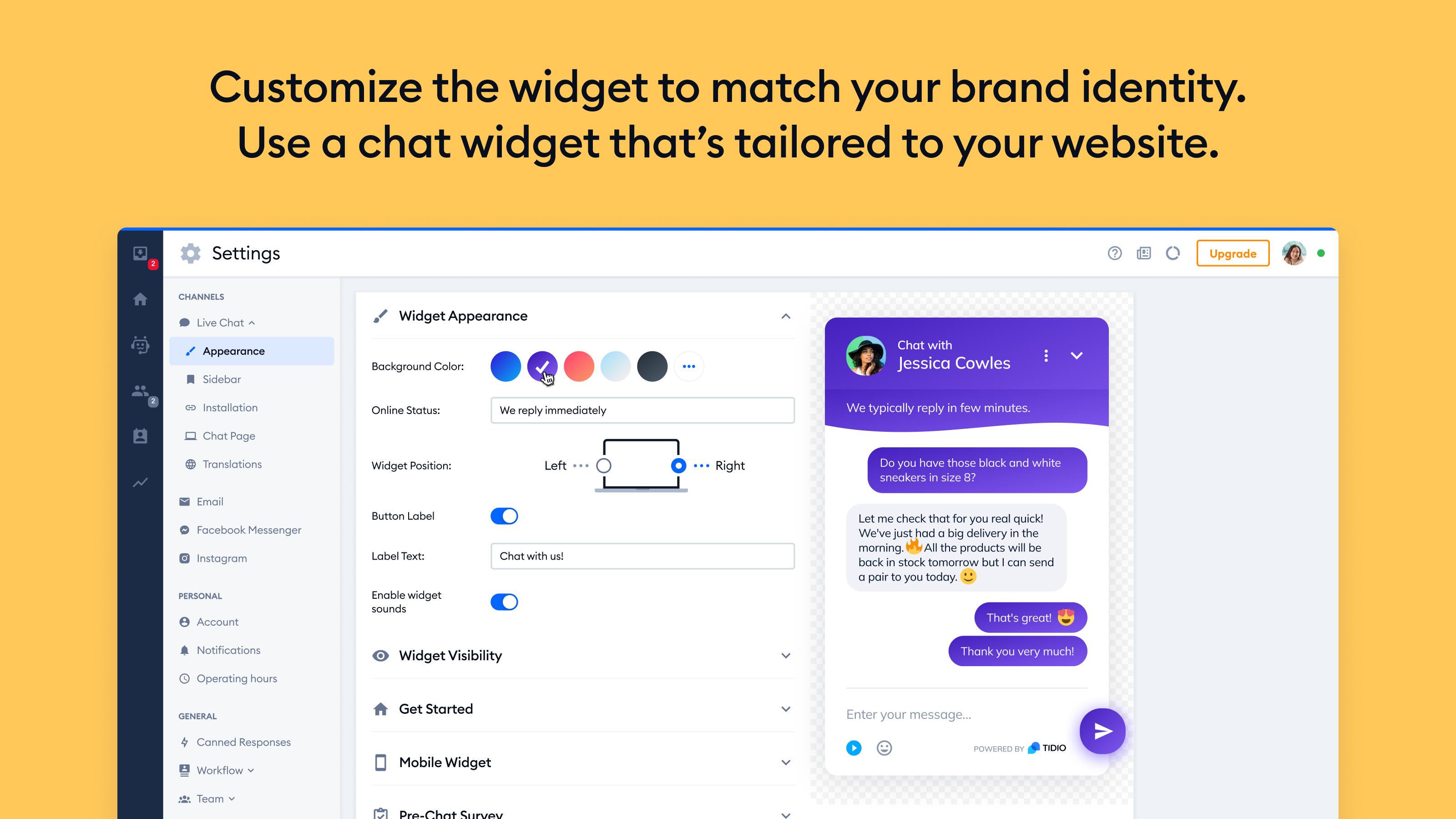 Tidio WordPress Plugin