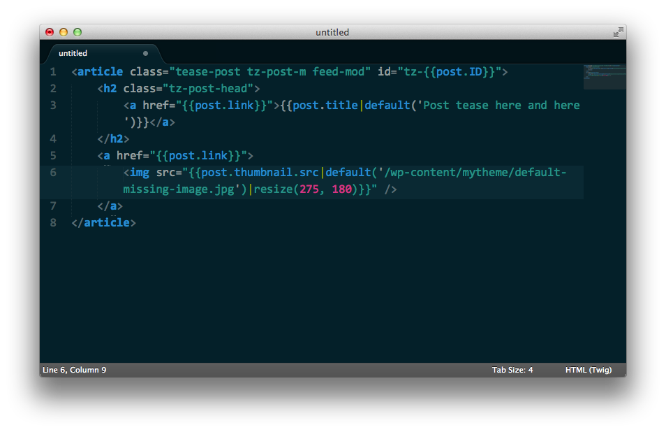 With Timber, you write Twig files that are super-clear and HTML-centric.