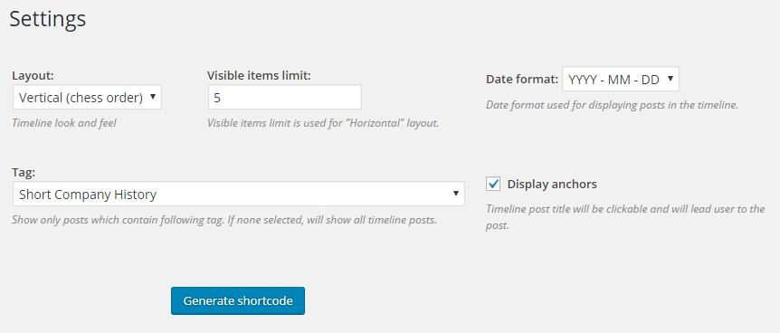 timeline formats