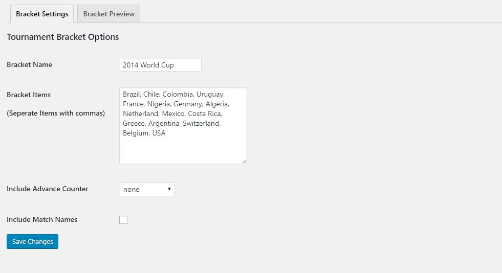 tournament bracket generator wordpress org