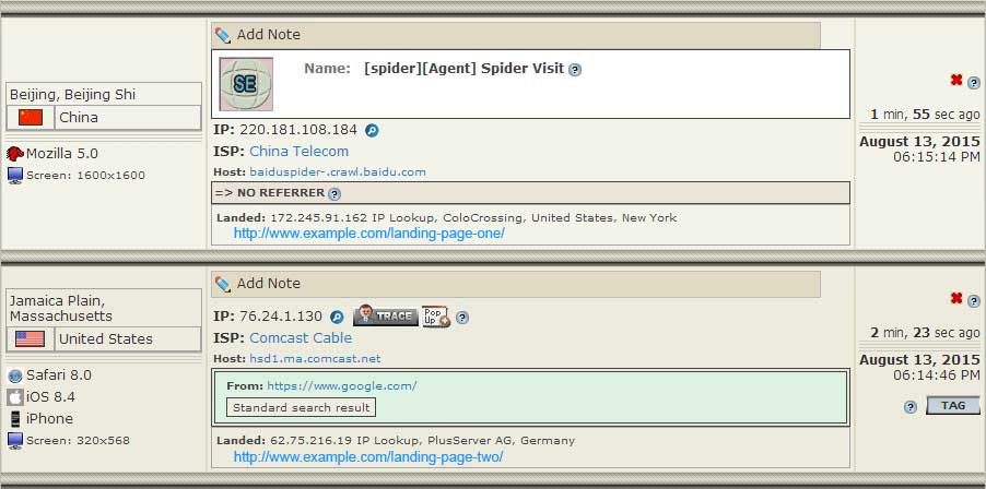 Visitor IP Tracking, IP Stats Analysis & IP Control by