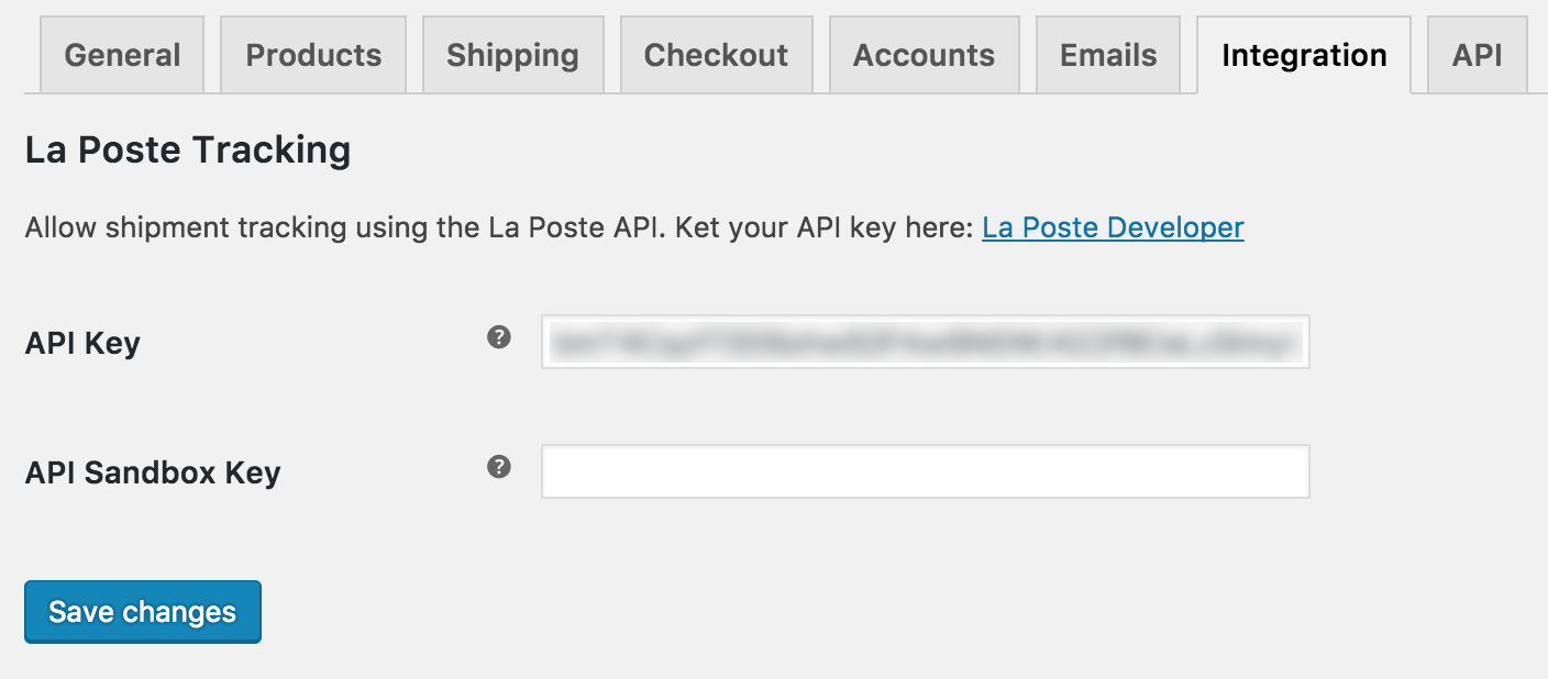 Tracking La Poste for WooCommerce