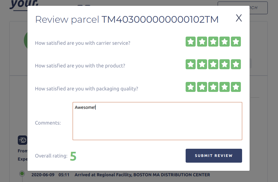 After your customer has received their order ask them to leave a review
