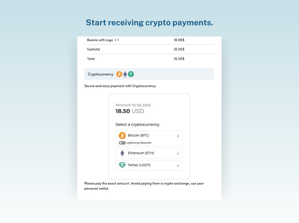 Bitcoin Payment Gateway for WooCommerce