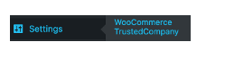 <p>Settings | WooCommerce TrustedCompany</p>