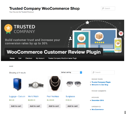 <p>Trusted Company Woocomerce Shop</p>