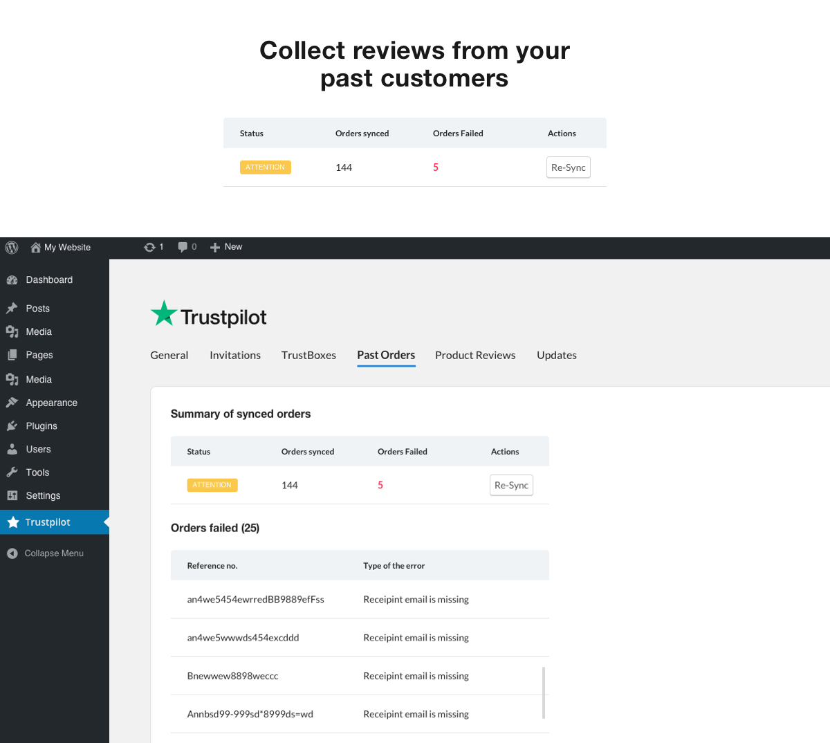 Collect reviews from your past customers