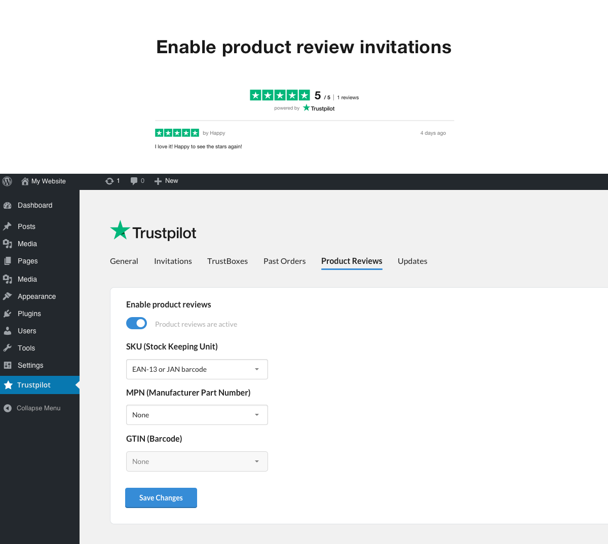 Enable product review invitations