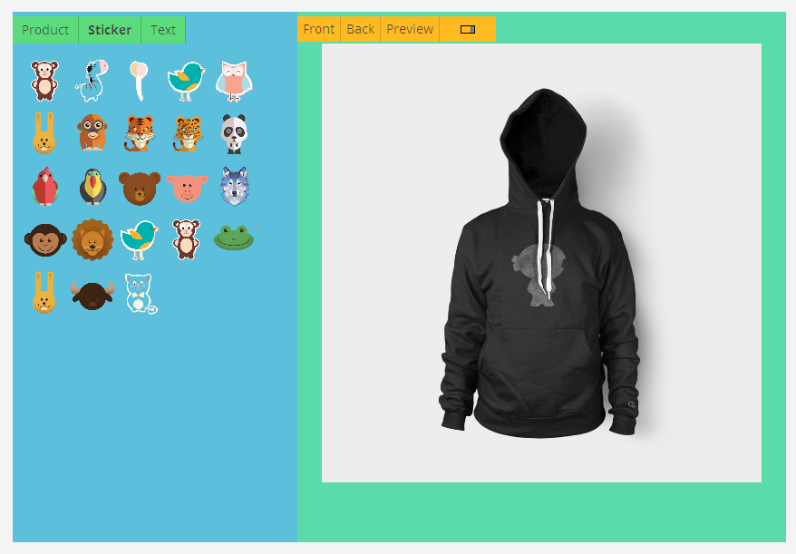 T shirt designer for T shirt designer plugin