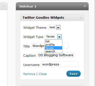 <p>Choose between 4 different twitter widgets, including the new twitter lists feature.</p>